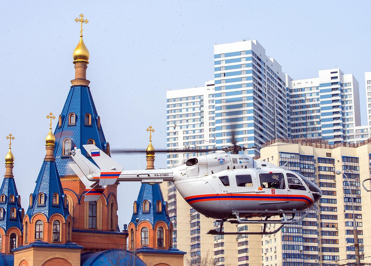 Вертолет в Северном Чертаново