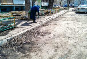 Городской двор весной