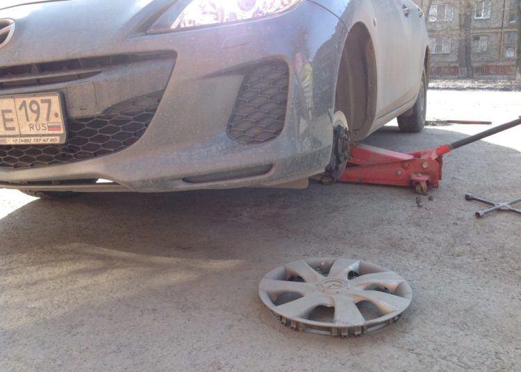 Замена колеса