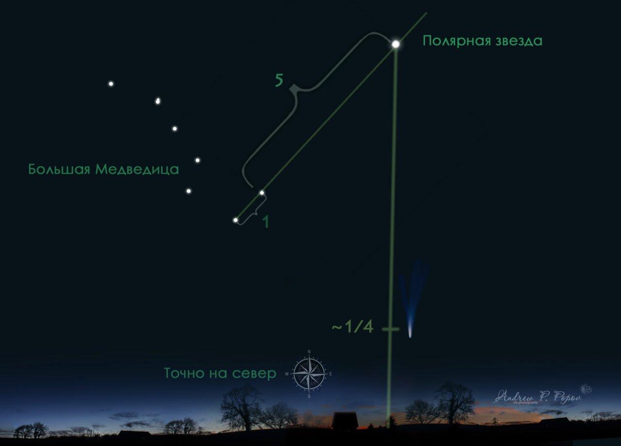 Где искать комету NEOWISE