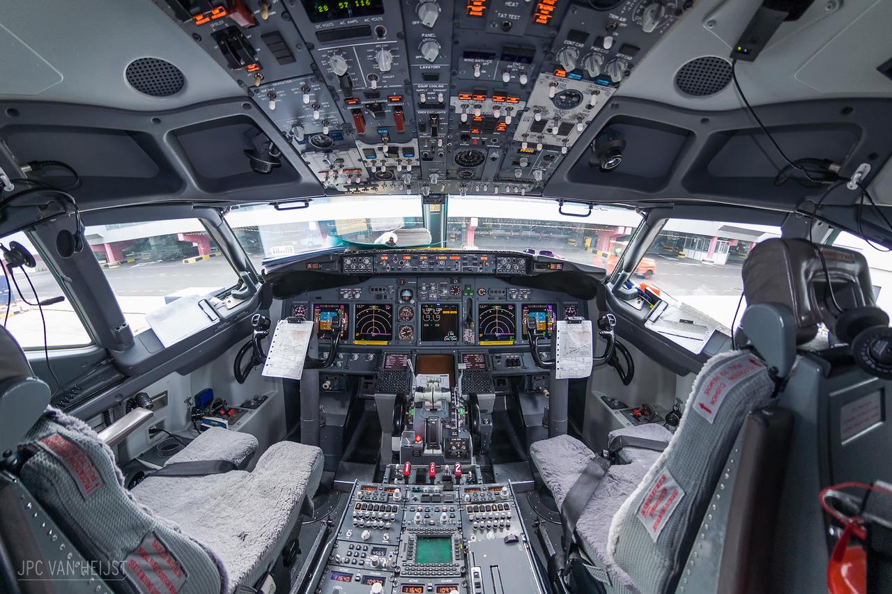 Пилот снимает