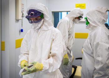 Больница в д. Малая Сосновка для больных коронавирусной инфекцией.